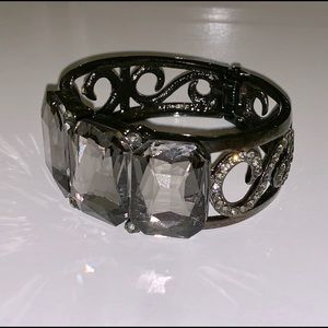 hematite statement cuff bracelet jewelry